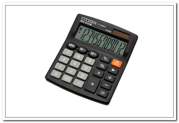 Калькулятор  12-разр.наст.CITIZEN-812NR черный
