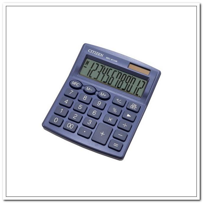 Калькулятор  12-разр.наст.CITIZEN-812NR-NV темно-синий