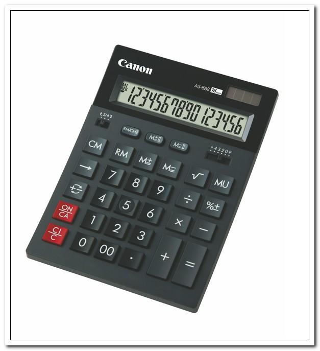 Калькулятор 16 разряд.Canon AS-888 II  бухгалтерский, черный