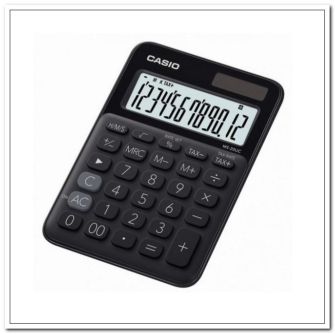 Калькулятор  12 разр. CASIO настольный черный