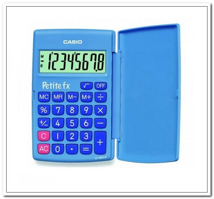 Калькулятор карманный Casio LC-401LV-BU голубой 8-разр.