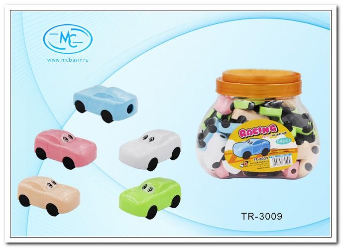 Точилка MC BASIR МАШИНКА 5см, одинарная, пластик., с контейнером, ассорти
