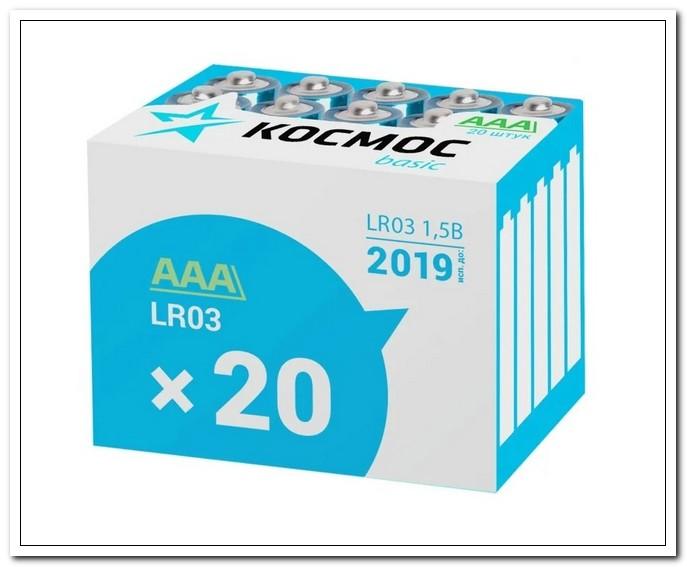 Элемент питания КОСМОС LR03 box 20  (AAA)