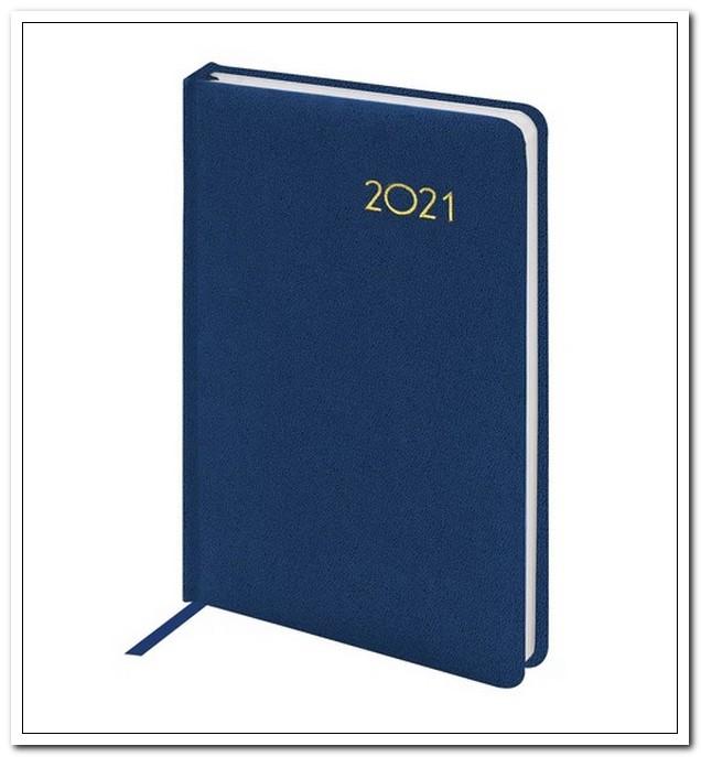 Ежедневник А5 2021г. BRAUBERG Select темно-синий, балакрон