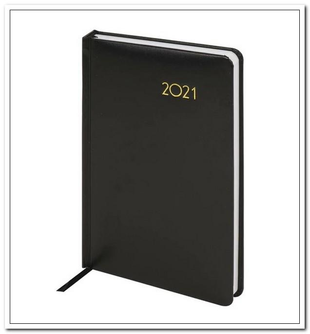 Ежедневник А5 2021г. BRAUBERG Select черный, балакрон