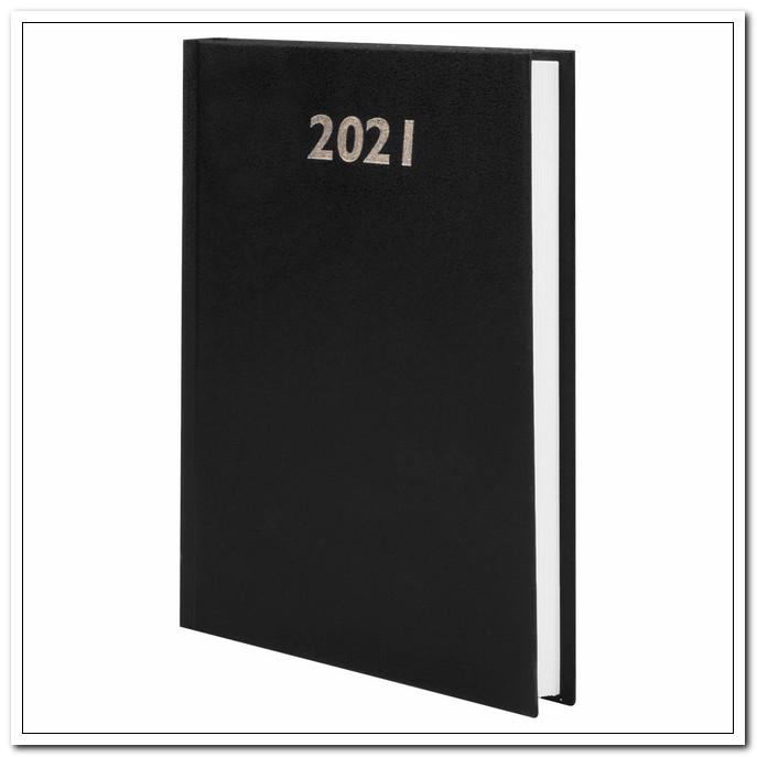 Ежедневник А5 2021г. STAFF бумвинил, черный