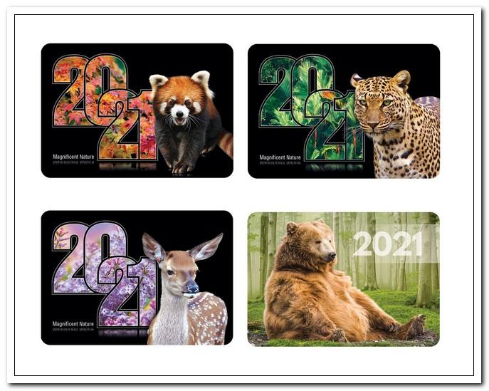 Календарь карманный 2021г.  70х100мм  Животные