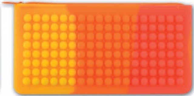 Пенал -косметичка  20*10 РАДУГА-2 3D дизайн молния арт. 43793/25
