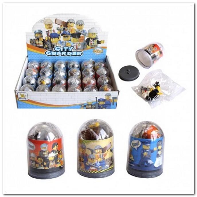 Конструктор пластик Профессии 12-14элементов, в ассортименте арт. 12549/296619