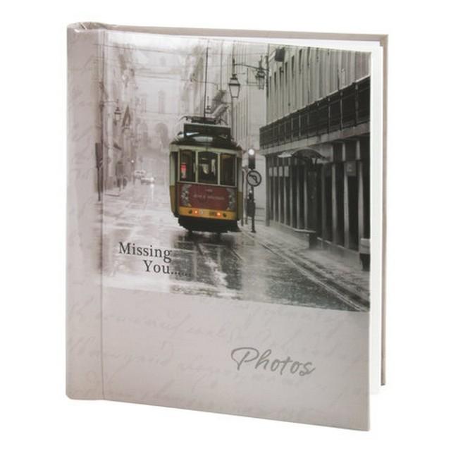 Фотоальбом Магнитный 20л. Трамвай, 23*28см, светло-коричневый арт. 391125