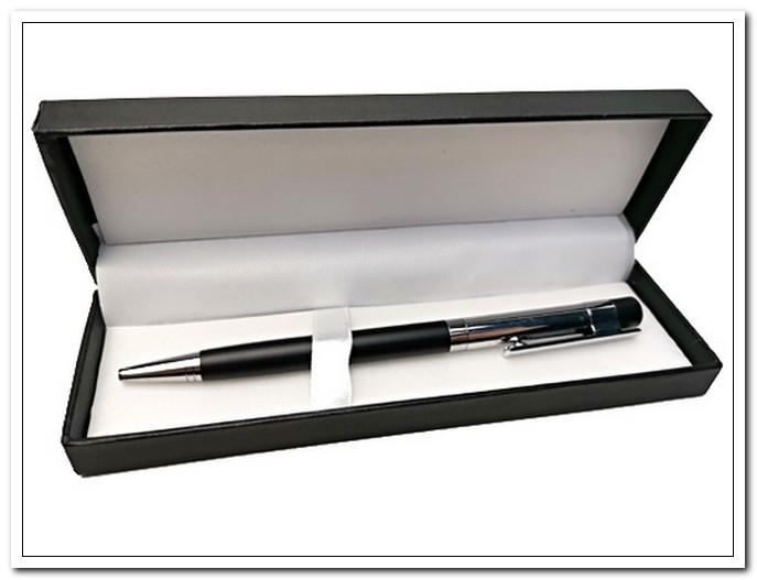 Ручка подарочная шариковая, синяя, корпус черный/серебристый, в футляре  Bikson арт. T70416-68