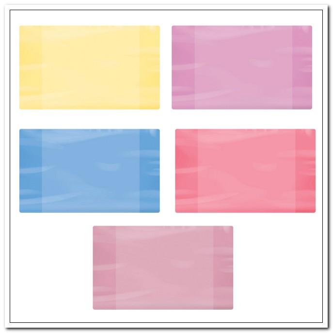 Обложка 210*350 60мкм ПЭ для тетрадей и дневников, цветная. 100шт./упак. арт. 227422