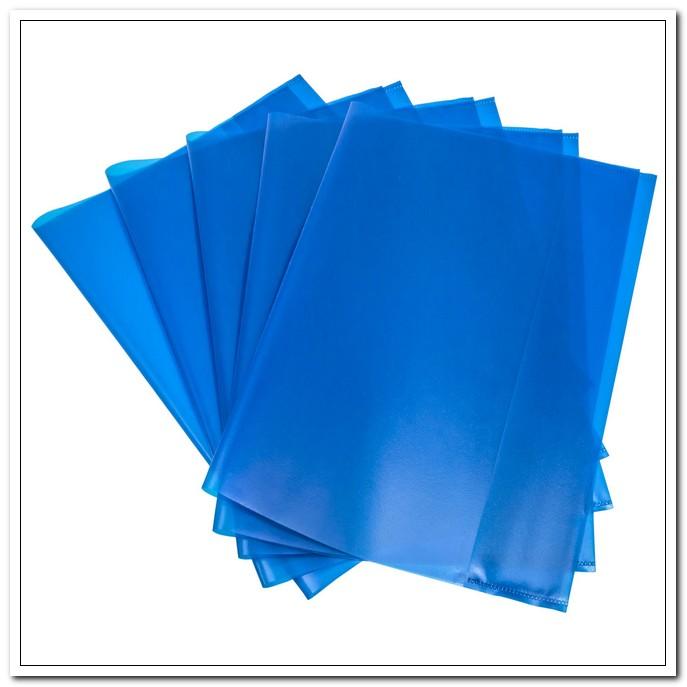 Обложка 303*436мм А4 95мкр ПП для тетрадей, голубая, (набор 5 шт.) арт. 05-0067-3
