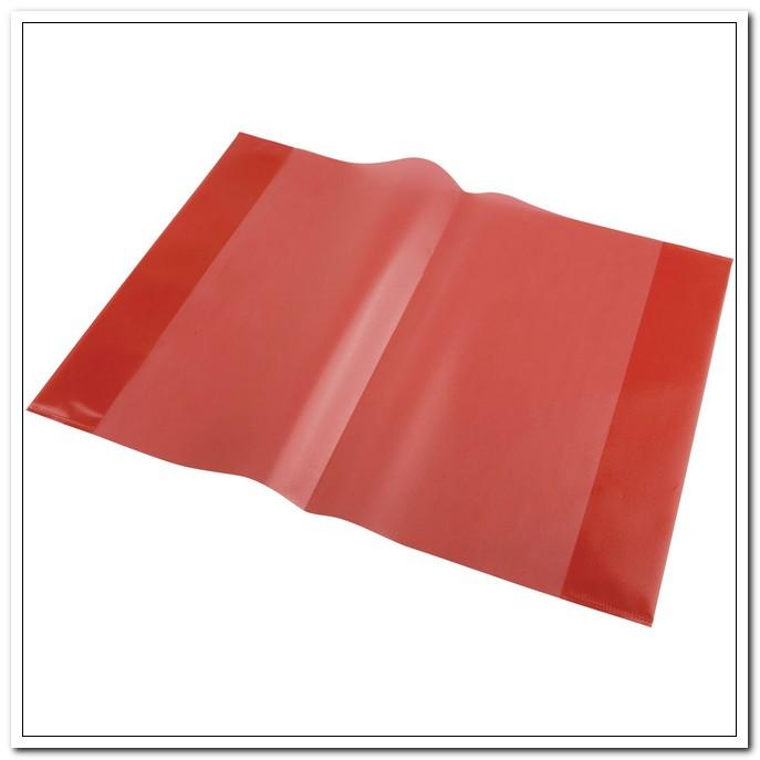 Обложка 303*436мм А4 95мкр ПП для тетрадей, красная, (набор 5 шт.) арт. 05-0067-5
